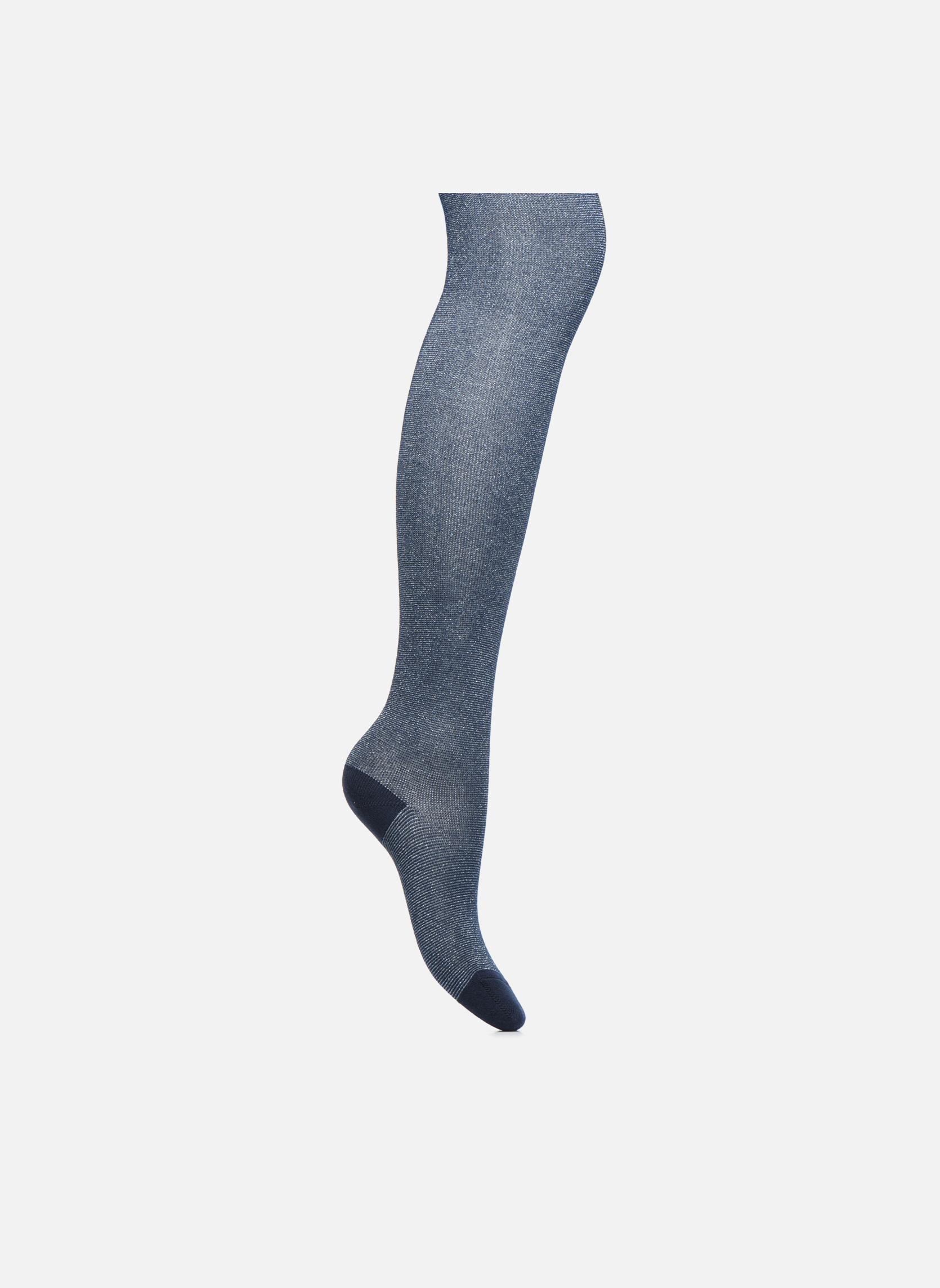 Chaussettes et collants Doré Doré Collant GLITTER Bleu vue détail/paire