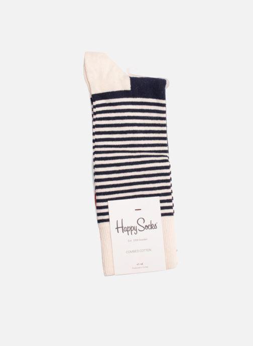Calze e collant Happy Socks Calze HALF STRIPES Beige immagine destra