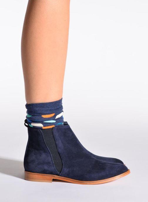 Chaussettes et collants Happy Socks Chaussettes BIG DOT Bleu vue portées chaussures