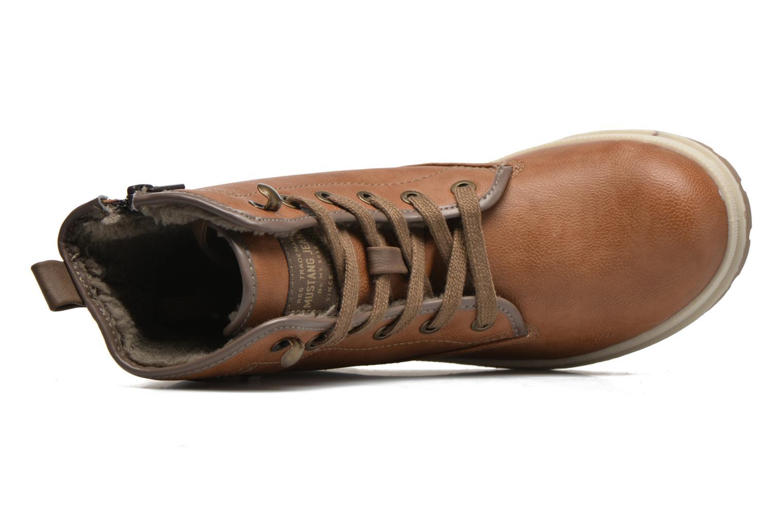 Boots en enkellaarsjes Mustang shoes Lumia Bruin links