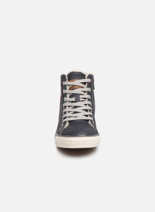 Sneaker Mustang shoes Dana blau schuhe getragen