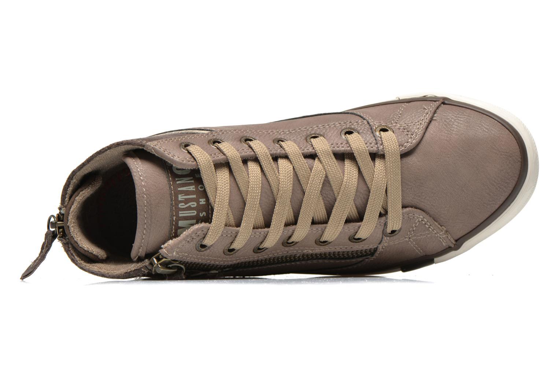 Baskets Mustang shoes Claudio Gris vue gauche