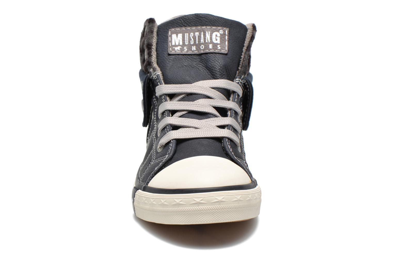 Baskets Mustang shoes Elena Bleu vue portées chaussures