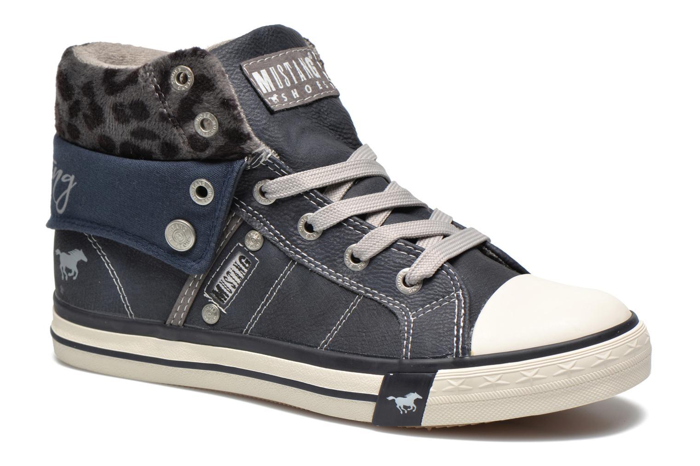 Baskets Mustang shoes Elena Bleu vue détail/paire