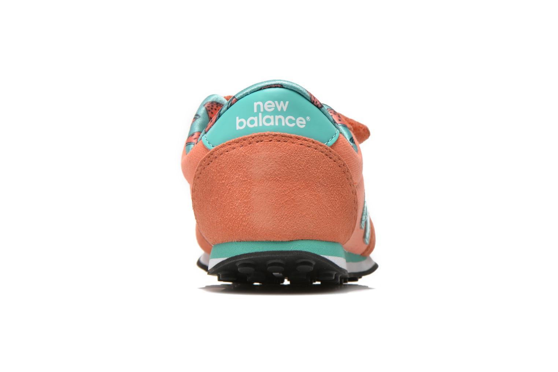Baskets New Balance KE410 J Orange vue droite