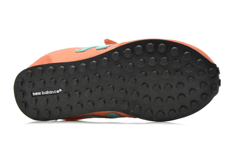 Baskets New Balance KE410 J Orange vue haut