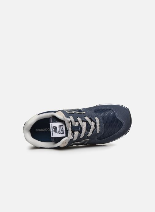 Trainers New Balance KL574 J Blue view from the left