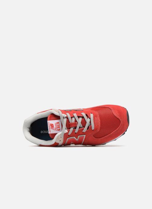 Deportivas New Balance GC574 Rojo vista lateral izquierda