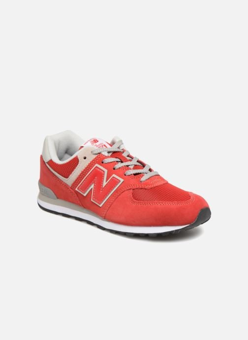 Baskets New Balance GC574 Rouge vue détail/paire