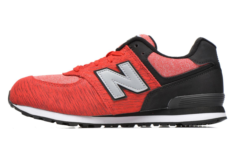 Sneakers New Balance KL574 J Röd bild från framsidan