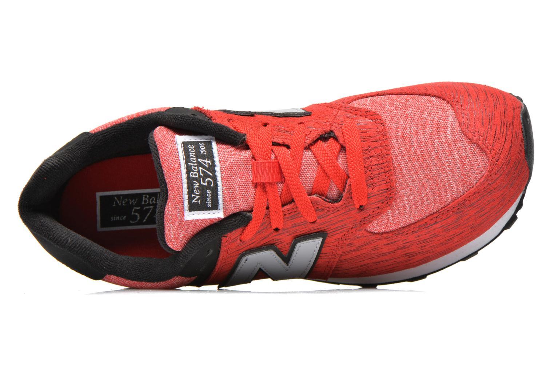 Sneakers New Balance KL574 J Röd bild från vänster sidan