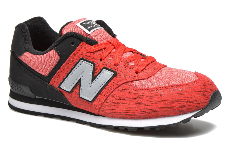 Sneakers New Balance KL574 J Röd detaljerad bild på paret