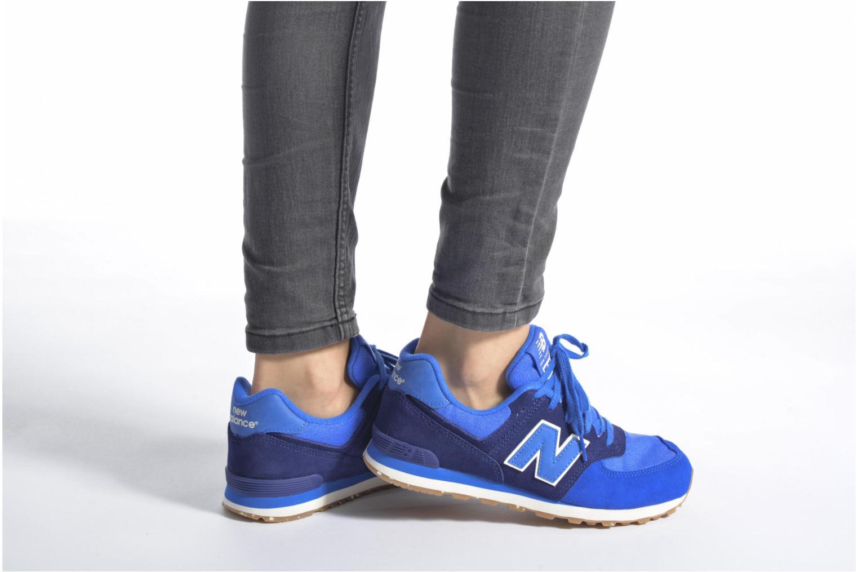 Sneaker New Balance KL574 J grau ansicht von unten / tasche getragen