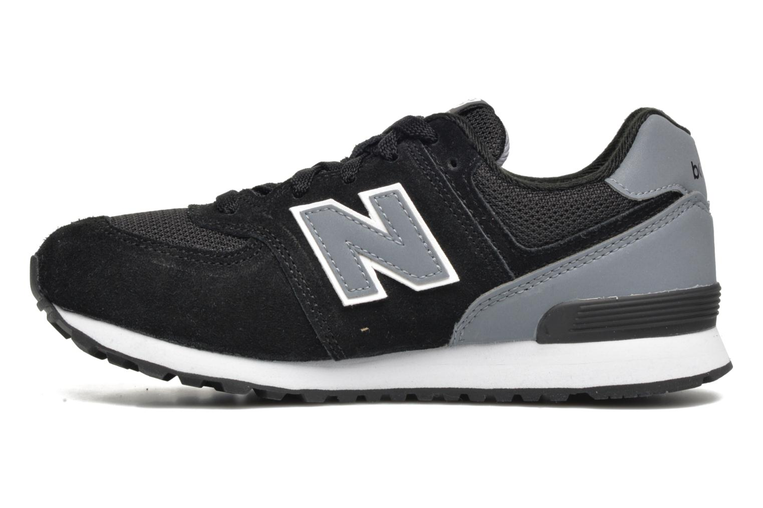 Baskets New Balance KL574 J Noir vue face