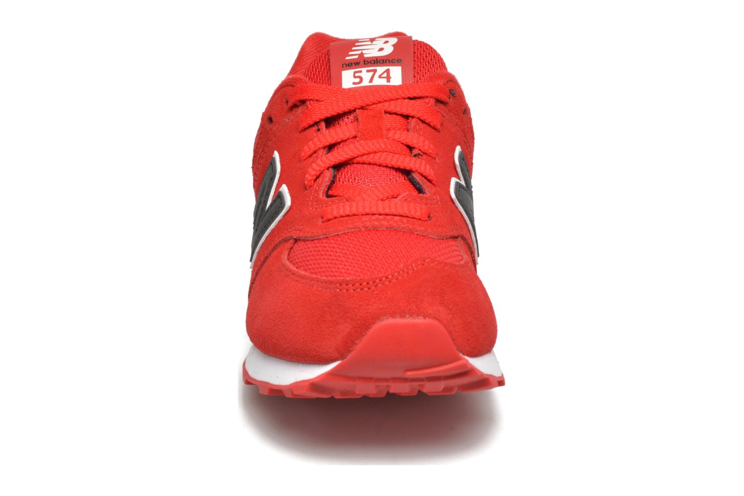 Trainers New Balance KL574 J Red model view