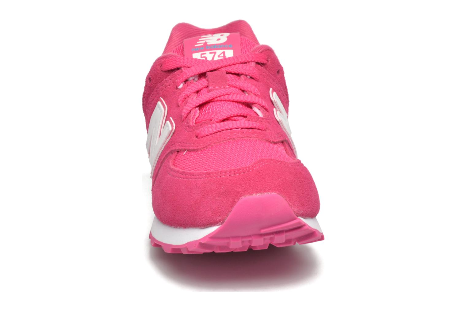 Trainers New Balance KL574 J Pink model view