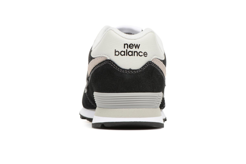 Deportivas New Balance KL574 J Negro vista lateral derecha