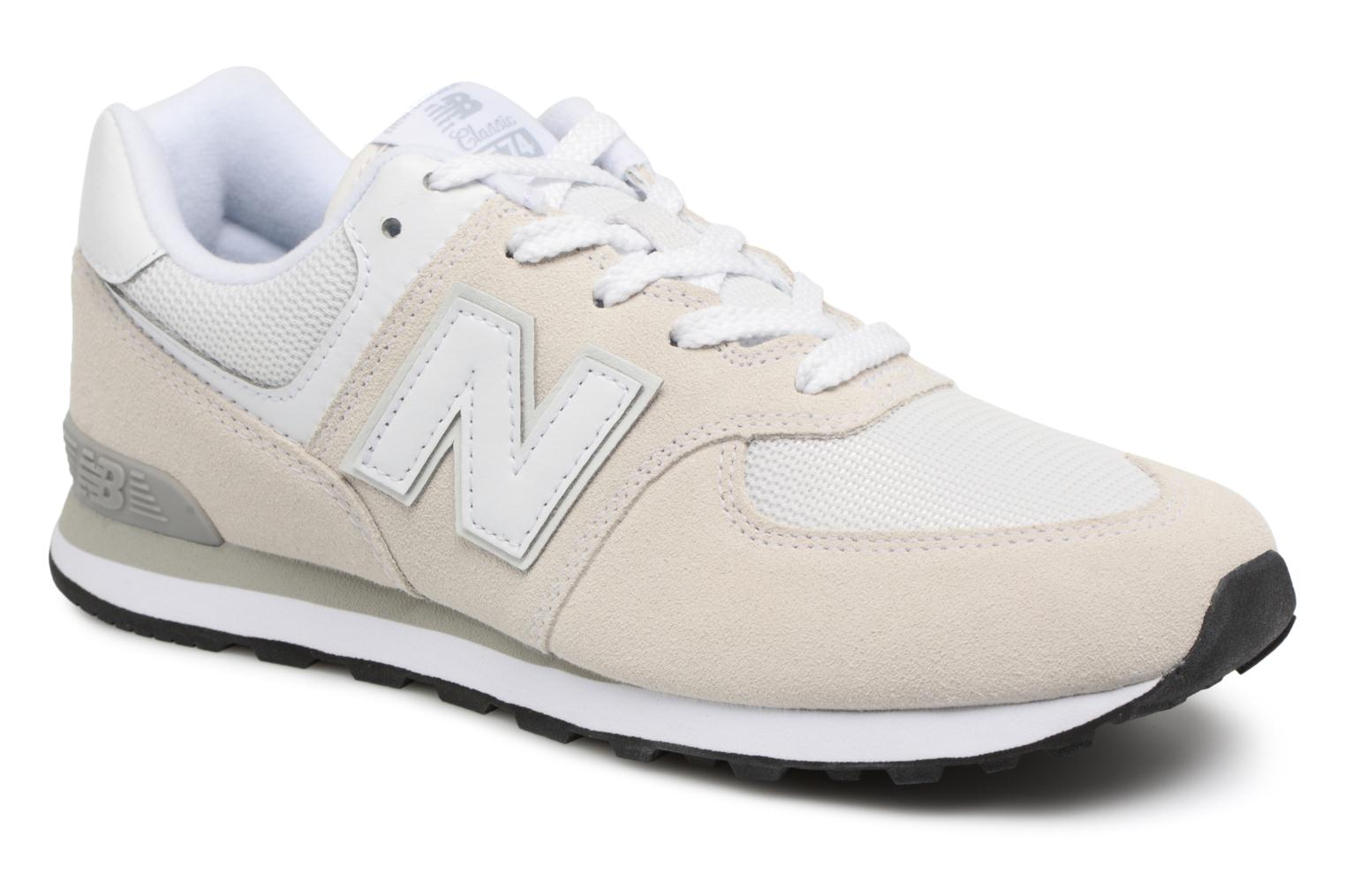 Trainers New Balance KL574 J White detailed view/ Pair view