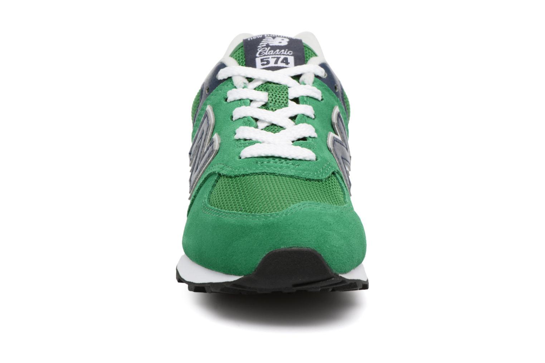 Baskets New Balance KL574 J Vert vue portées chaussures