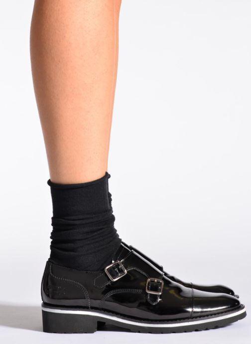 Chaussettes et collants BLEUFORÊT Chaussettes laine fine Noir vue portées chaussures