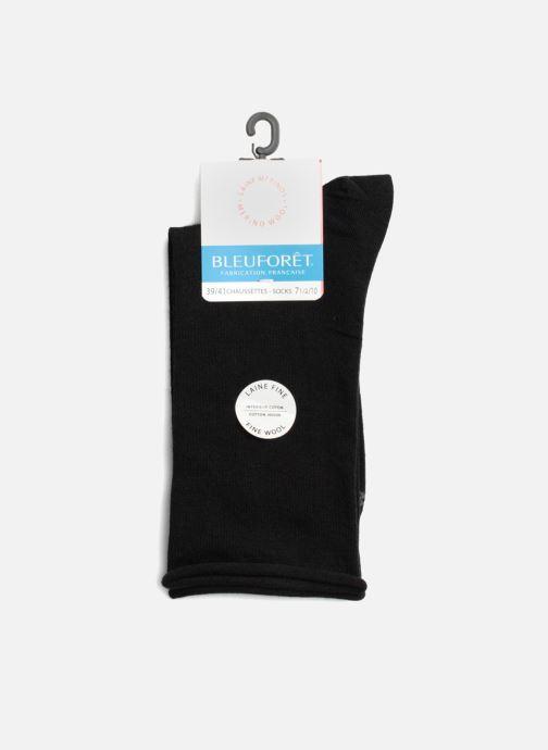 Chaussettes et collants BLEUFORÊT Chaussettes laine fine Noir vue face