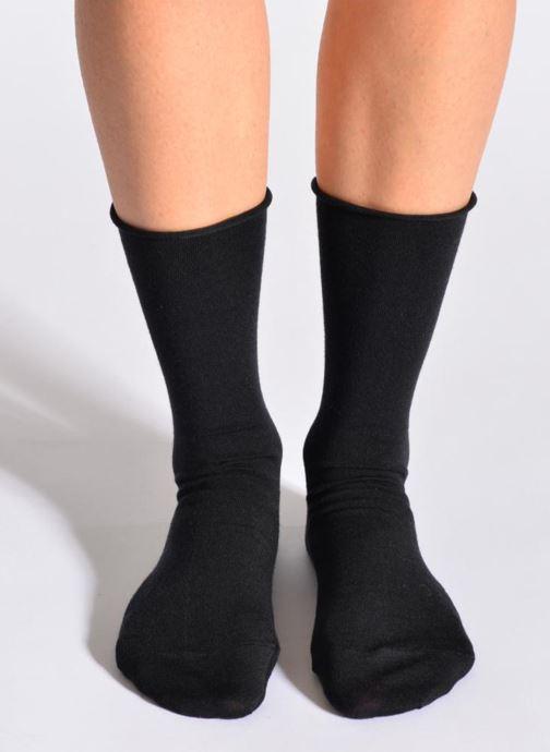 Chaussettes et collants BLEUFORÊT Chaussettes laine fine Noir vue détail/paire