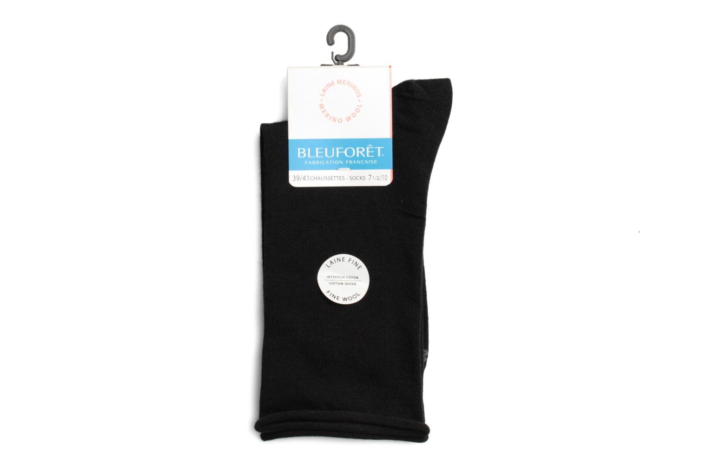 Socks & tights BLEUFORÊT Chaussettes laine fine Black front view