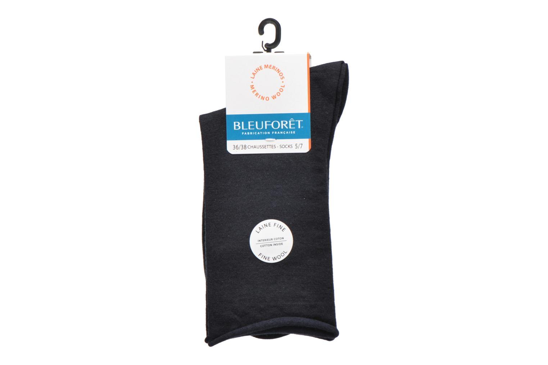Socks & tights BLEUFORÊT Chaussettes laine fine Blue back view
