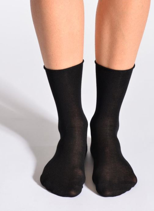 Chaussettes et collants BLEUFORÊT Chaussettes fleur de peau Noir vue détail/paire