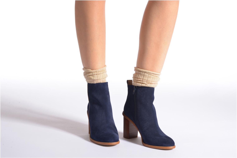 Chaussettes et collants Falke Chaussettes LUREX Or et bronze vue portées chaussures