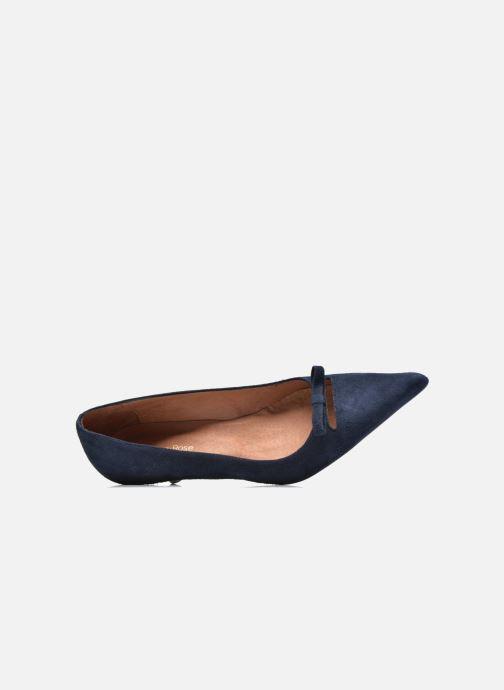 Zapatos de tacón Georgia Rose Ribote Azul vista lateral izquierda