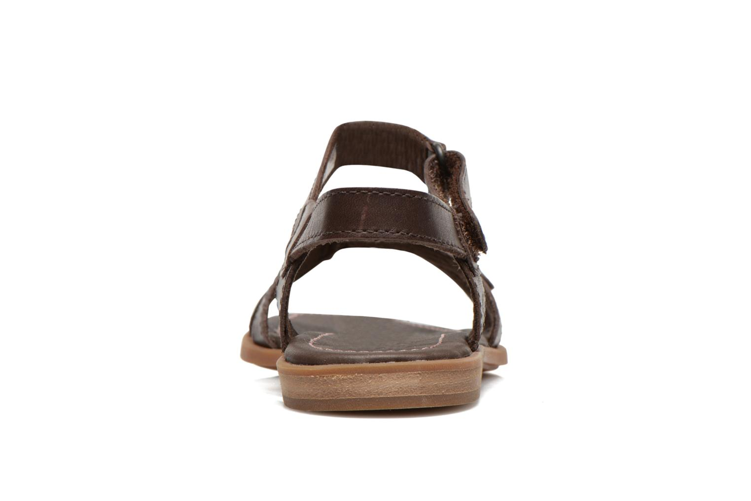 Sandales et nu-pieds Timberland Earthkeepers Willowbrook Crossband Sandal Marron vue droite