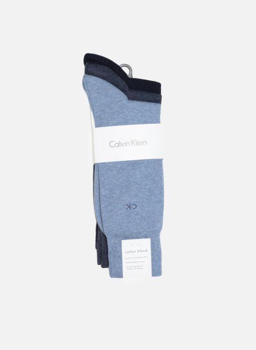 Chaussettes et collants Calvin Klein Chaussettes BASICS Pack de 3 Bleu vue portées chaussures