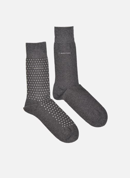 Chaussettes et collants Calvin Klein Chaussettes DOTS Pack de 2 Gris vue détail/paire