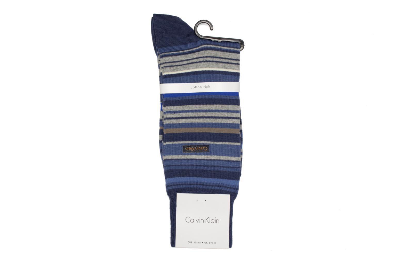 Chaussettes et collants Calvin Klein Chaussettes STRIPES Bleu vue droite
