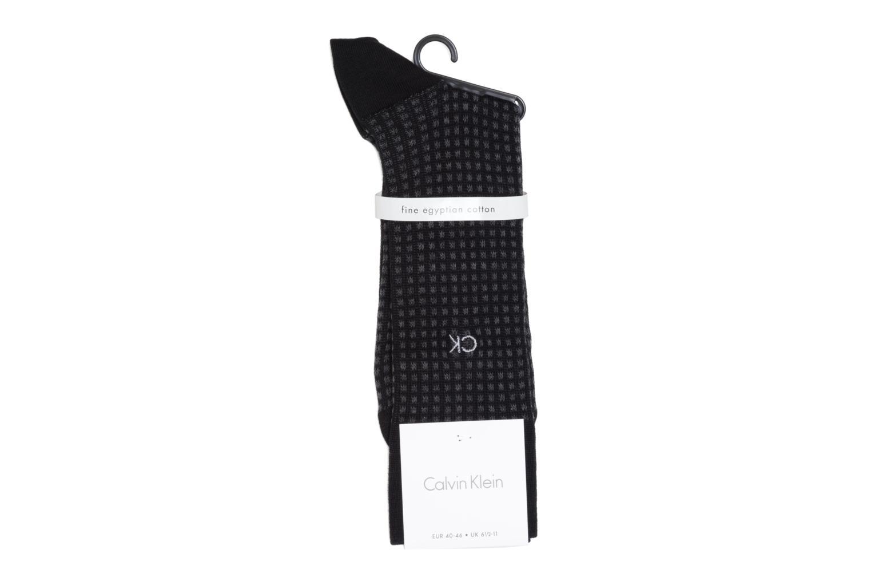 Chaussettes et collants Calvin Klein Chaussettes SQUARES Noir vue portées chaussures