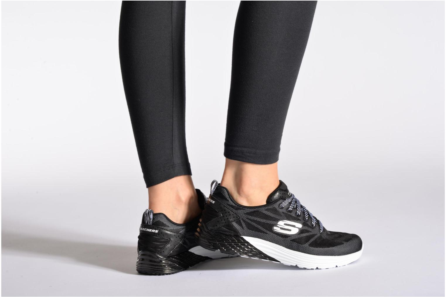 Sport shoes Skechers Valeris Front Page 122113 Black view from underneath / model view