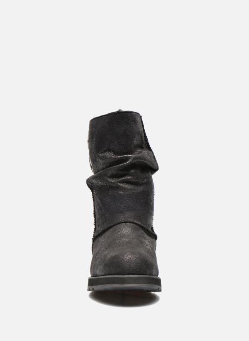 Stivaletti e tronchetti Skechers Keepsakes Leather-Esque 48367 Nero modello indossato