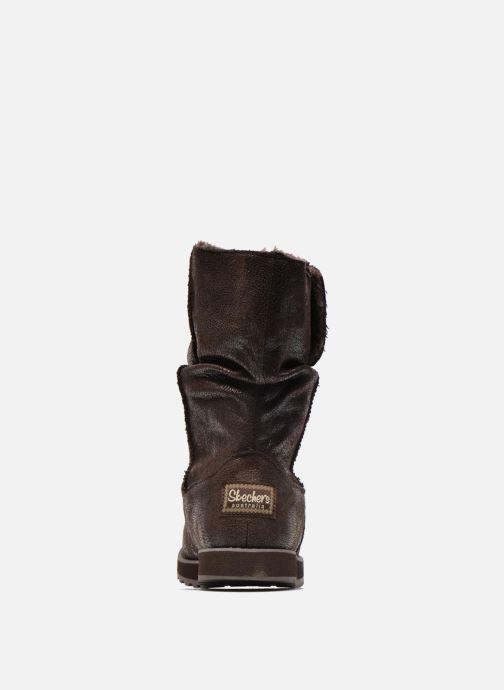 Botines  Skechers Keepsakes Leather-Esque 48367 Marrón vista lateral derecha