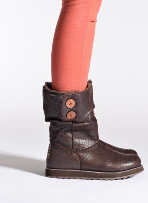 Bottines et boots Skechers Keepsakes Leather-Esque 48367 Marron vue bas / vue portée sac