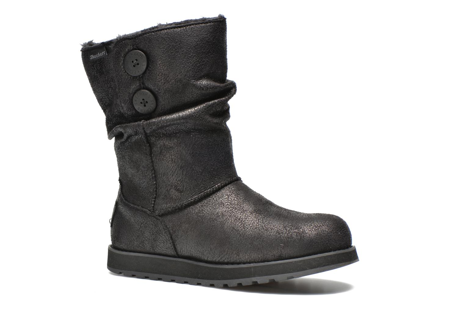 Boots en enkellaarsjes Skechers Keepsakes Leather-Esque 48367 Zwart detail