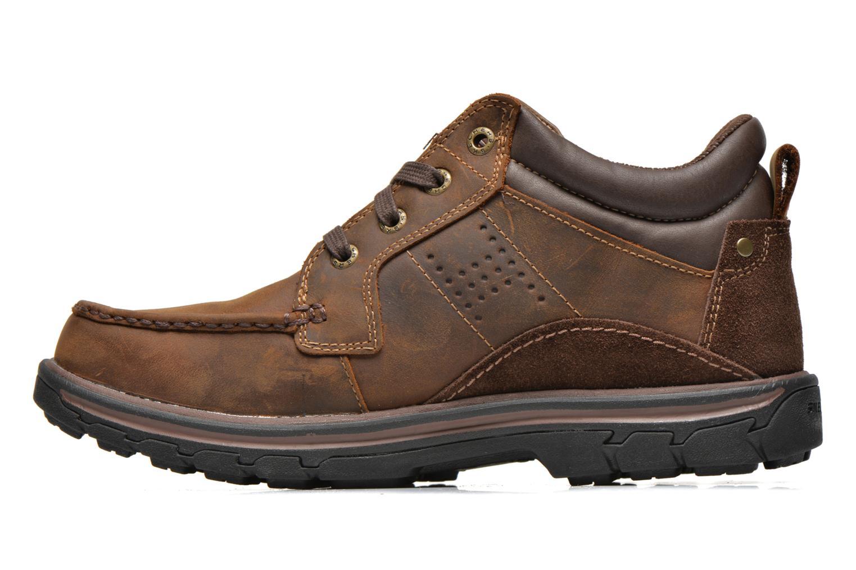 Zapatos con cordones Skechers Segment Melego 64522 Marrón vista de frente