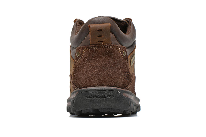 Zapatos con cordones Skechers Segment Melego 64522 Marrón vista lateral derecha