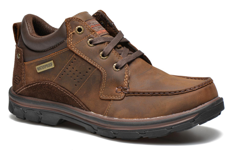 Zapatos con cordones Skechers Segment Melego 64522 Marrón vista de detalle / par
