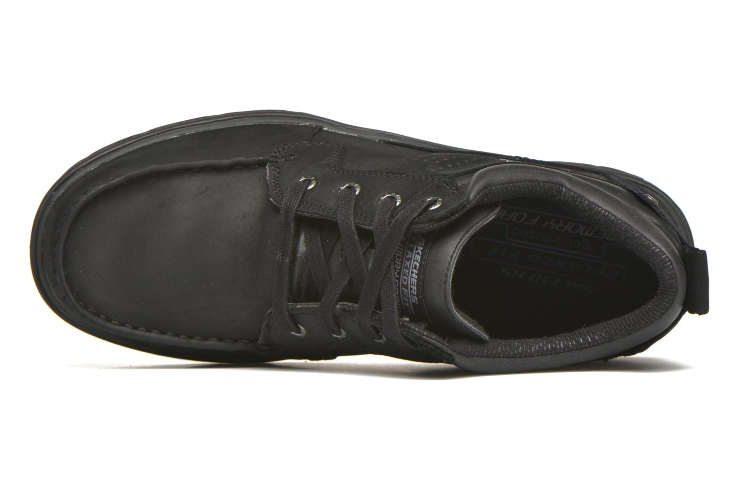 Lace-up shoes Skechers Segment Melego 64522 Black view from the left
