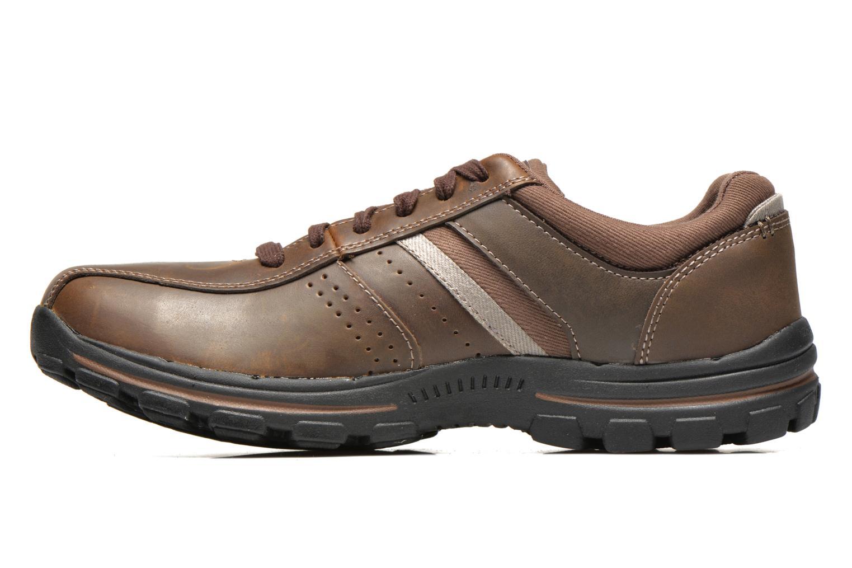 Sneakers Skechers Braver Alfano 64529 Brun se forfra