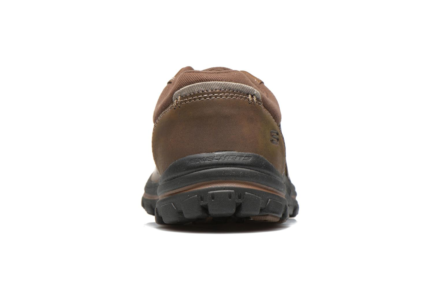 Trainers Skechers Braver Alfano 64529 Brown view from the right