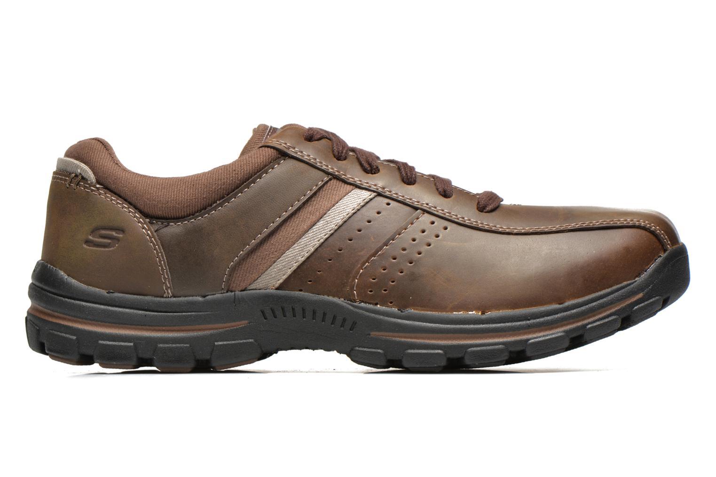 Sneakers Skechers Braver Alfano 64529 Brun se bagfra