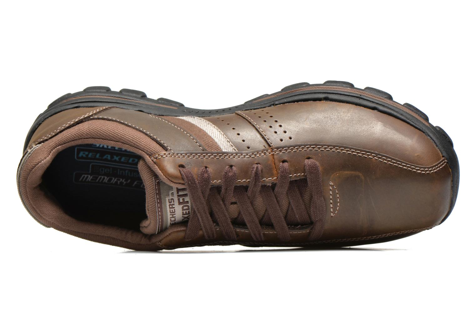 Trainers Skechers Braver Alfano 64529 Brown view from the left