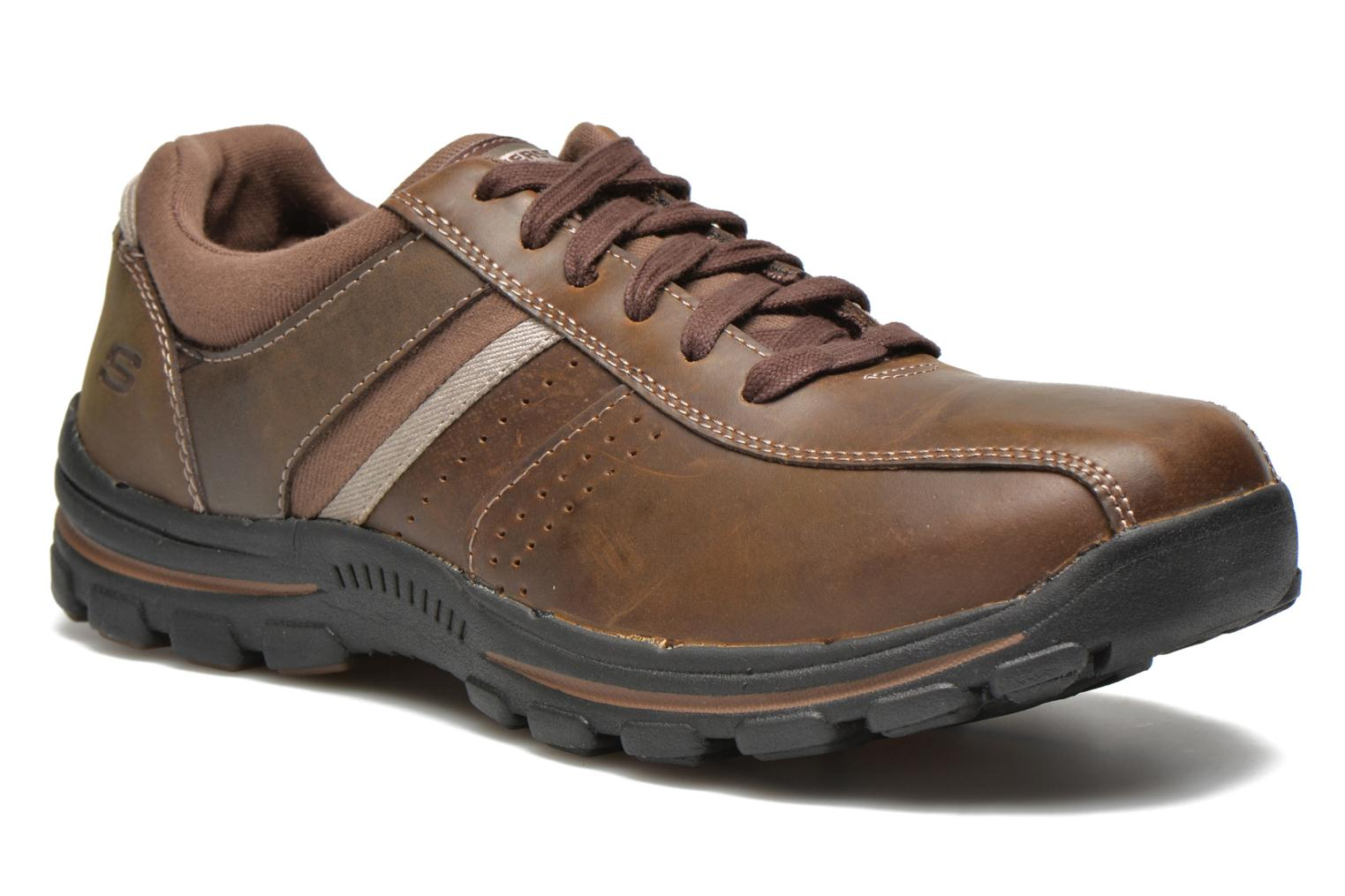 Trainers Skechers Braver Alfano 64529 Brown detailed view/ Pair view